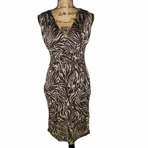iz Byer zebra print sleeveless dress size medium